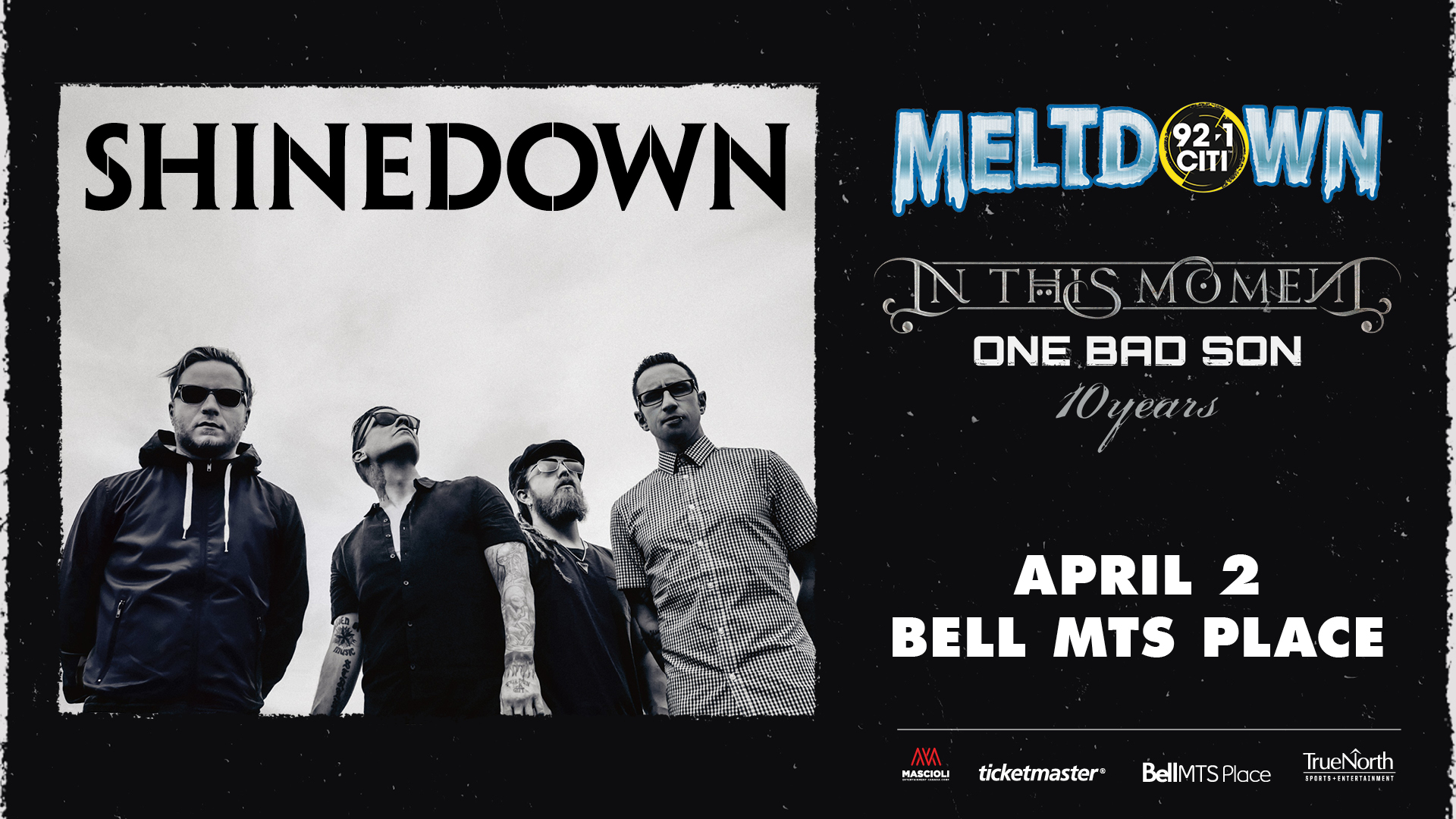 921 Citi Meltdown Tour Featuring Shinedown With Special Guests In